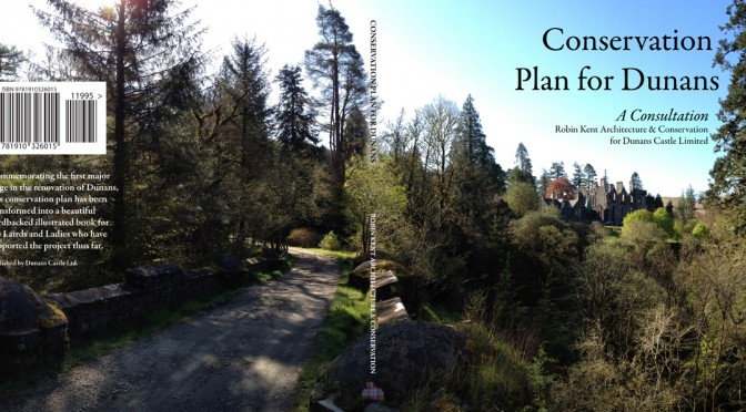 Cover finalised for the Conservation Plan of @DunansCastle, including Barcode, ISBN, blurb and fabulous panorama