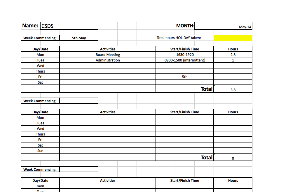 cgdt uses timesheets to record everyone u0026 39 s activities