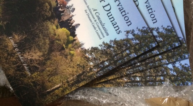 The Books have arrived: The copies of the Conservation Plan for Dunans arrived yesterday!