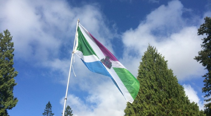 Flying the Flag at Dunans: Lairds and Ladies can now have their very own Dunans Flag!