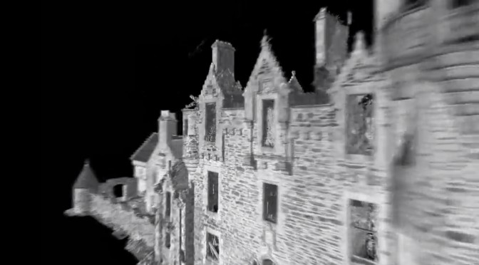 Fabulous 3D fly-by of Dunans: Laser survey creates a stunning movie of the castle and house