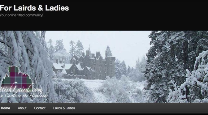 Lairds and Ladies Website: Revamped and new content added