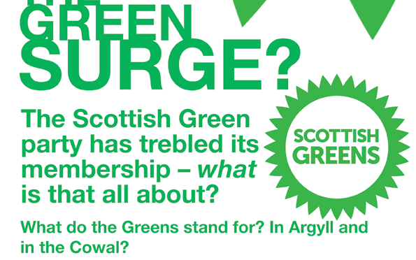 The Green Surge: Open Meeting in Dunoon on 15th Dec.