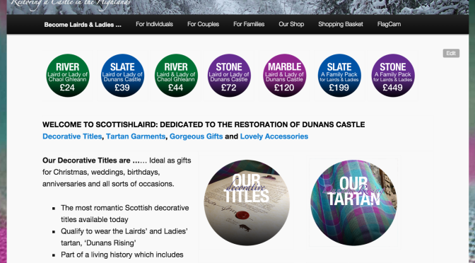 Adding Festive Baubles: Our ScottishLaird.com site gets a refresh for the sheer merriness of it!