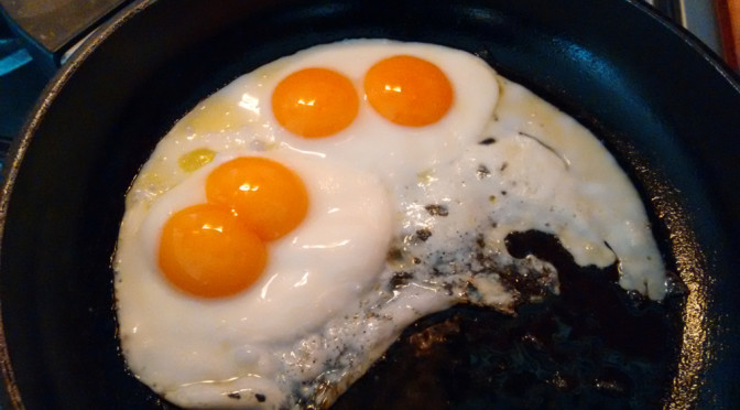 Double-Double Yolker! Two eggs, four yolks …