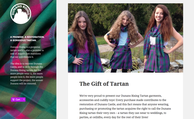 New Dunans Rising Tartan website: The Gift of Tartan for #DunansCastle