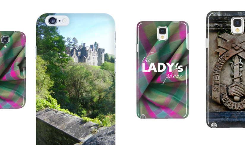 Smartphone Cases for Lairds & Ladies: #DunansRising tartan, #DunansCastle and Lechadhu insignia on the back of #yourphone